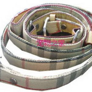 L-004 Burberry dog pet collar & leash