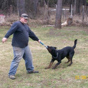 this is buddha playing with my husband on 4/12/09