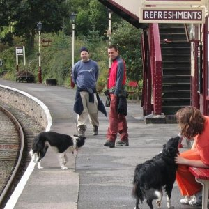 Robbie and Sally at Llangollen Railway