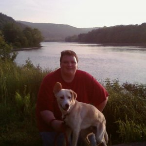 Dan and Colt by the river 5/29/10