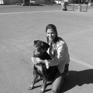 Sable and I! I love you and miss you Sable.