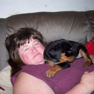 Barb & her new puppy Rufus 12 26 10