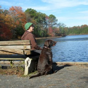 Duke and me, Parvin State Park Oct2011