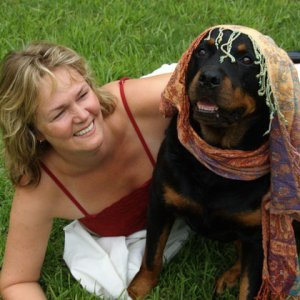 R.I.P Chuku...   this is my mom with a female rottweiler Chuku. She passed away 2011.